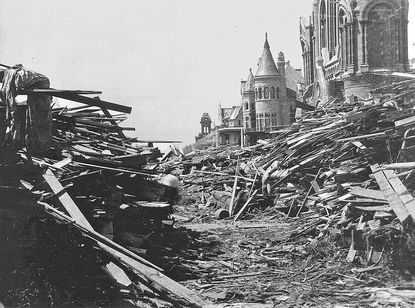 The hurricane that devastated Galveston, Texas on Sept. 8, 1900 prompted the federal government to further develop the nation's weather forecasting system