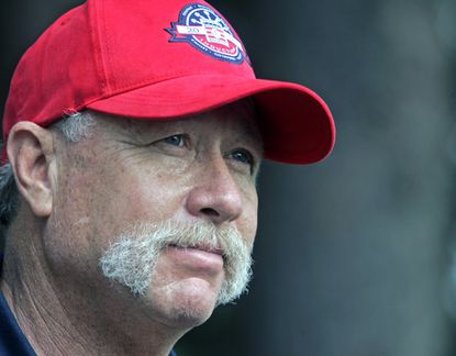 """In this Saturday, July 26, 2008 file photo, Rich """"Goose"""" Gossage talks to reporters during the National Baseball Hall of Fame Invitational at Leatherstocking Golf Course in Cooperstown, N.Y., Saturday, July 26, 2008. Hall of Famer Goose Gossage has criticized Toronto star Jose Bautista and New York Mets slugger Yoenis Cespedes for the way the pair celebrated home runs during the playoffs last year, Thursday, March 10, 2016."""