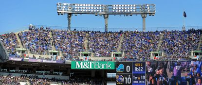 The upper level of M&T Bank Stadium during a December game against the Detroit Lions. Michael Kahler died after stumbling on the steps in that part of the stadium during the Ravens-Titans playoff game on Jan. 11.