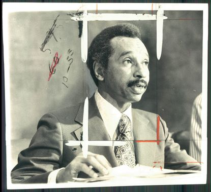 Parren Mitchell, shown here in a 1972 photo, narrowly defeated Samuel N. Friedel in the 1970 Democratic primary for Maryland's seventh district congressional seat.