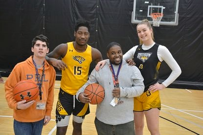 Towson University's basketball teams hosted their annual clinics ahead of their Autism Awareness Weekend.
