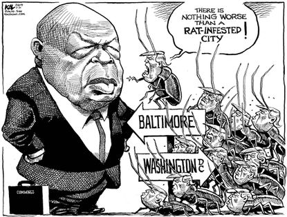 KAL on Cummings and Trump: Whose city is infested with vermin?