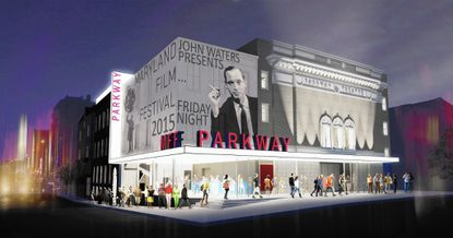 Artist's conception of the Stavros Niarchos Foundation Film Center at the Parkway Theater.