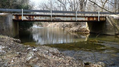 The Robinson Mill Rooad bridge over Broad Creek in Darlington has been closed since March of 2017. The county government is seeking County Council approval to appropriate an additional $300,000 to cover the full cost of replacing the bridge.