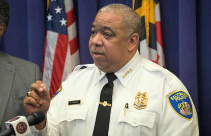 Baltimore Police Commissioner Michael Harrison said at a press conference Thursday that charges accusing 20 men of being part of a sweeping drug conspiracy are the latest example of his department's commitment to rooting out high-level drug dealers.