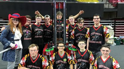 Archbishop Spalding's Cavineers robotics team claimed first place in its division at the First World Championship in Detroit last month.