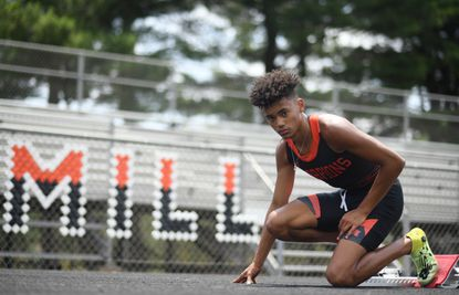 Oakland Mills' Judson Lincoln IV led the Scorpions to county and state championships to earn the 2021 Howard County Boys Outdoor Track and Field Athlete of the Year award.