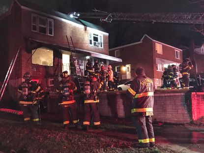 Several people were injured by a fire in the 5100 block of Plainfield Avenue on Sunday Feb. 9, 2020.