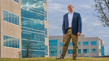 Howard County Economic Development Authority CEO Larry Twele in the Columbia Gateway district.
