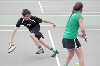 Atholton's mixed doubles team of Jenna Sweet and Scott Lee has won county and regional titles, and will attempt to win a state title this weekend at the University of Maryland.