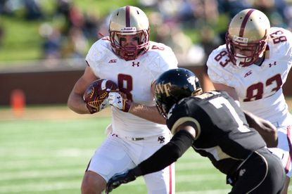 Wide receiver Josh Bordner (Century) leads Boston College in catches with 26 and receiving yards with 342.