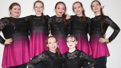 Glenelg High School Color Guard, from left top: Mary Delph, Madie Calhoun, Kayleigh Linsenmeyer, Captain Chloe Qualls, Rachel Ball; from left, bottom: Hannah Dougherty-Vona, Gabby Youshaw.
