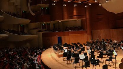 The audience at the Baltimore Symphony Orchestra's Thursday night concert wait for the musicians to appear on stage before a recent performance.