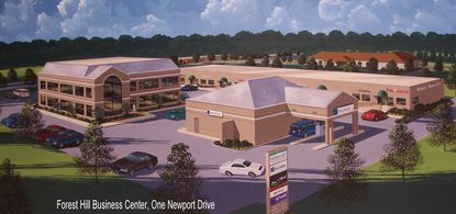 The three buildings known as One Newport Drive, at the intersection of Routes 24 and 23 and Newport Drive at the entrance to the Forest Hill Business Center, was recently sold.