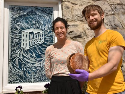 Maya Muñoz and Russell Trimmer launched Motzi Bread in Charles Village at the corner of Guilford Avenue and East 28th Street, where a neighborhood drugstore once stood, and more recently, a liquor store.