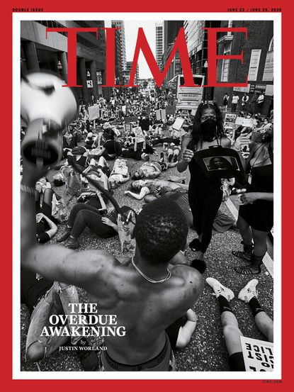 Baltimore photographer Devin Allen's photo of a Black Trans Lives Matter protest in Baltimore is used on the cover of Time magazine. This is the second time a photo of Allen's has landed on the magazine's cover, the first coming in 2015 after the death of Freddie Gray. (Time handout photo)