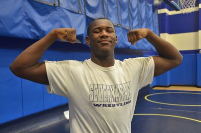 Severna Park junior Ty Broadway is the last remaining undefeated wrestler in Anne Arundel County. He is looking to defend his county title at Annapolis High School this weekend.