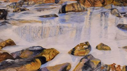 """""""Icy Patapsco"""" by Mary Smith-Luther is part of the HoCo Open 2019 exhibit at the Howard County Center for the Arts through Feb. 22."""