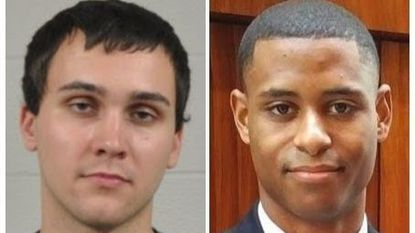 Sean Urbanski, left, has been charged with the murder of Richard Collins III in 2017 at the University of Maryland, College Park.