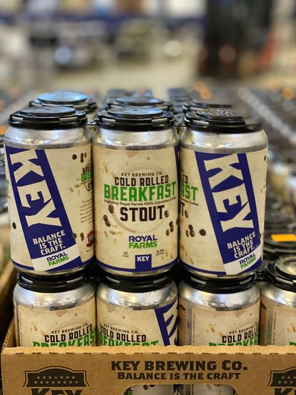 Cold Rolled Breakfast Stout is a collaboration between Key Brewing Co. and Royal Farms brewed with Colombian coffee beans.