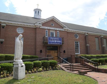 The front of St. Mary's High School in Annapolis.