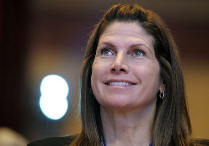 Mary Bono was named interim president Friday.
