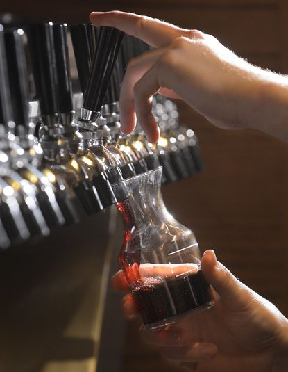A bill approved in the Maryland General Assembly will allow restaurants in Howard County to sell wine in refillable containers to go. So far, the only spot in the county that has wine on tap is the Aida Bistro Wine Bar in Columbia whose owner, Joe Barbera, is on the edge of what he sees as a burgeoning market in wines on tap.