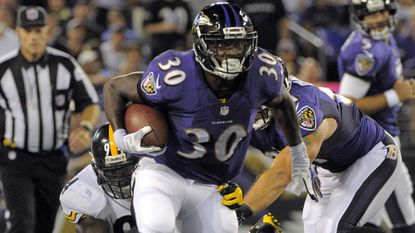 Ravens running back Bernard Pierce.