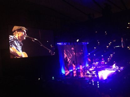 An iPhone photo of James Taylor performing at Royal Farms Arena on Tuesday night.