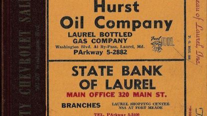 A portion of the 1962 cover Laurel City Directory was, as always, covered with ads from local businesses.