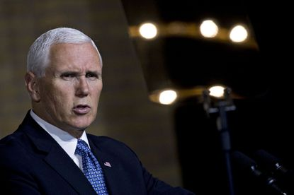 Vice President Mike Pence speaks during a National Space Council meeting in Washington, D.C., on Oct. 23, 2018.