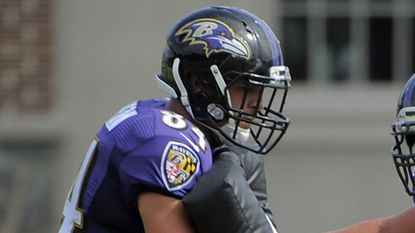 Ravens tight end Phillip Supernaw.