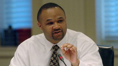 Democratic Del. Dereck Davis of Prince George's County, chairman of the House Economic Matters Committee, on March 23, 2006, in Annapolis.
