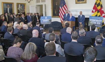 Gov. Larry Hogan announced the Ethics and Accountability in Government Act the day before the General Assembly reconvened n Annapolis, but at least one state delegates say its Governor Hogan's ethics that need oversight.