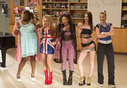 """""""Glee"""" gals take on Spice Girl's """"Wannabe"""" in the """"Guilty Pleasures"""" episode."""