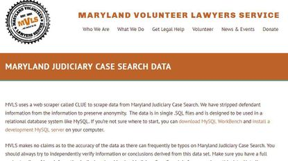 The Maryland Volunteer Lawyers Service