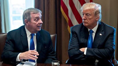 Trump says his words on immigration were misrepresented by 'Senator Dicky Durbin'