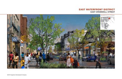A rendering of the planned Port Covington development.