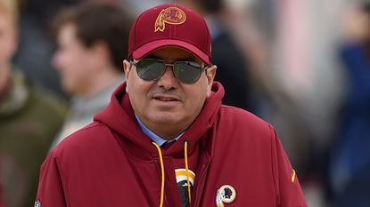Washington Redskins owner Daniel Snyder before the game between the Washington Redskins and Philadelphia Eagles at FedEx Field on December 30, 2018 in Landover. (Photo by Will Newton/Getty Images)