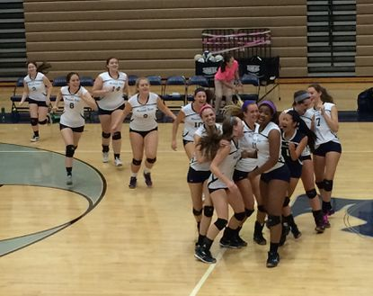 The Marriotts Ridge volleyball team came back from a 2-0 deficit to defeat Reservoir on Oct. 22. It was the second straight night that Marriotts Ridge overcame a 2-0 deficit to win.