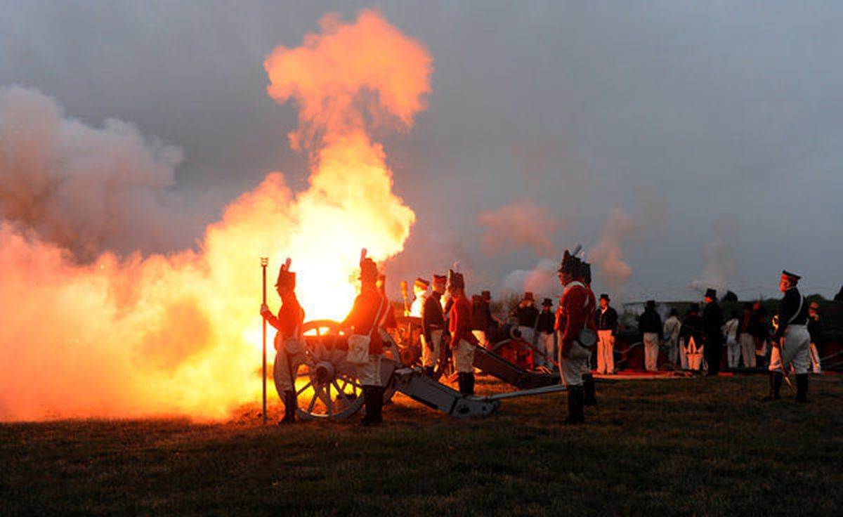 Cannon fire at Fort McHenry helps to mark celebration