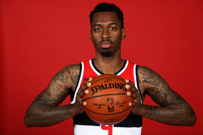 Sheldon Mac of the Washington Wizards poses during media day at Capital One Arena on September 25, 2017.