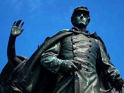 The Union Soldiers and Sailors Monument in Baltimore was dedicated in 1909 to honor the citizen-soldier who fought for the Union in the Civil War.