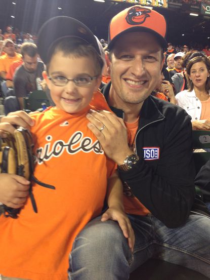 Josh Charles adds to 7-year-old's Orioles Magic experience