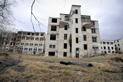 The Henryton complex, originally built in 1922 as a sanitarium for African-Americans with tuberculosis. Closed since 1985, there've been 70 fires there over the past decade. The abandoned buildings are slated for demolition.