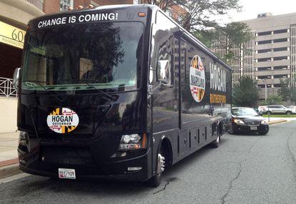 Larry Hogan campaign bus