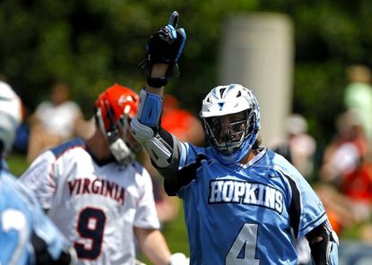 Ryan Brown was held without a goal for the first time since 2013 in Johns Hopkins' 17-7 win over Prinecton on Saturday at Homewood Field.