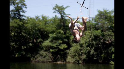 Let the heat be a reason to get away from the congested city and go on a day trip to some wide open spaces in Cockeysville. At the Beaver Dam Swim Club, you can go for a swim in the fresh water quarry — and enter via rope swing. There are also two pools. The swim club, at 10820 Beaver Dam Road, is open 11 a.m.-6:30 p.m. weekdays and 11 a.m.-7 p.m. on weekends. $14-$18; children under 2 are free.