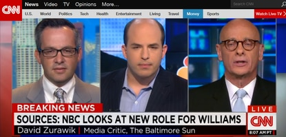 Using unnamed sources, CNN's Brian Stelter Sunday reported that NBC is considering a possible return for suspended anchorman Brian Williams - but not as an anchorman or managing editor. Here's a discussion abotu it involving me, Variety Editor Andrew Wallenstein and Stelter.