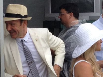 Actor Kevin Spacey at Preakness 2013